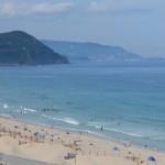 白浜海岸はとても綺麗な海と砂浜でした